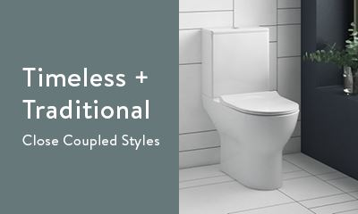 Timeless and traditional close coupled toilets